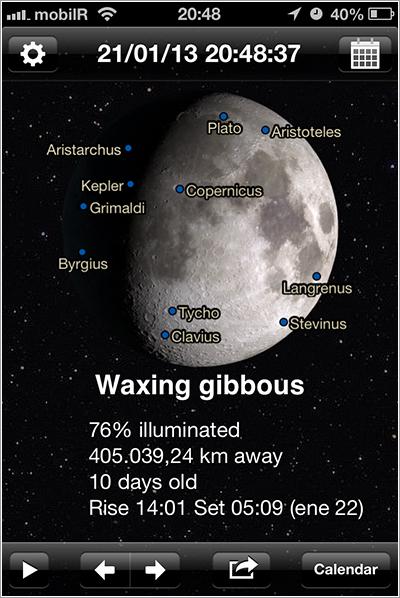 Phases of the Moon en el iPhone