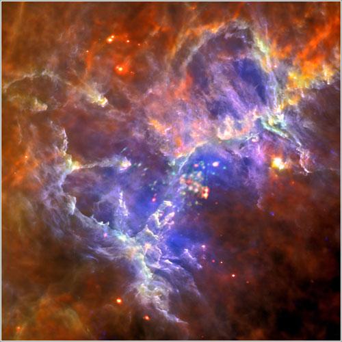 Los Pilares de la Creación en 2012 por la ESA
