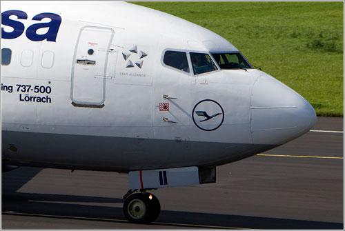 Tubos pitot en un 737