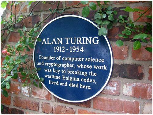 Placa de la casa de Alan Turing por Joseph Birr-Pixton