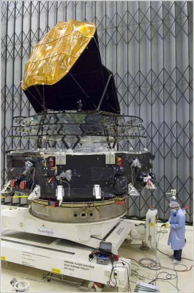 El Planck en las instalaciones de la ESA