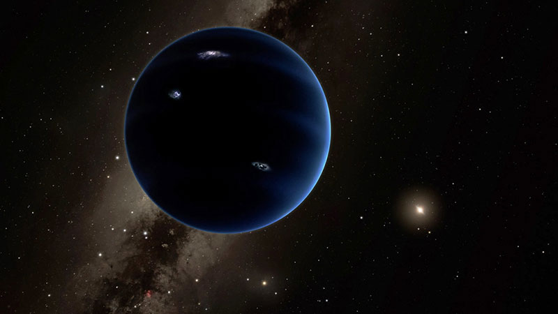 Impresión art�stica del planeta nueve