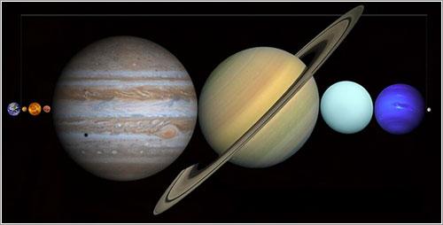 Los planetas entre la Tierra y la Luna