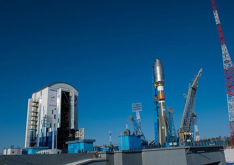 La plataforma para Soyuz de Vostochni