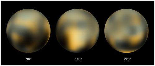 La superifcie de Plutón vista por el Hubble