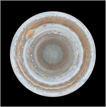 Polo Sur de Júpiter