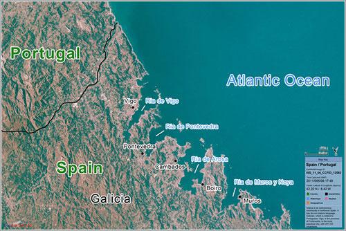 Portugal y España vistos por la EarthKAM