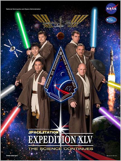 Póster oficial de la Expedición 45 a la EEI