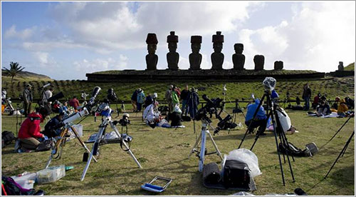 Preparados para el eclipse - Martin Bernetti / AFP - Getty Images