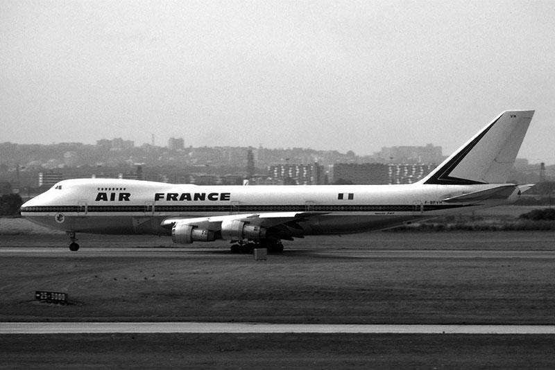 El primer 747 de Air France