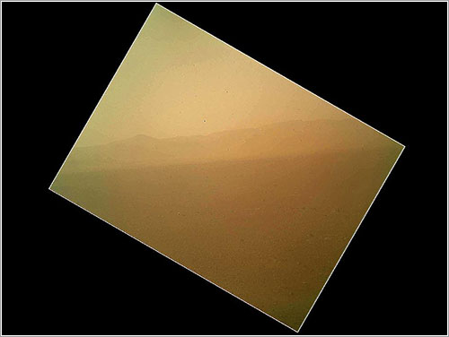 Primera imagen en color enviada por Curiosity - NASA/JPL-Caltech/Malin Space Science Systems