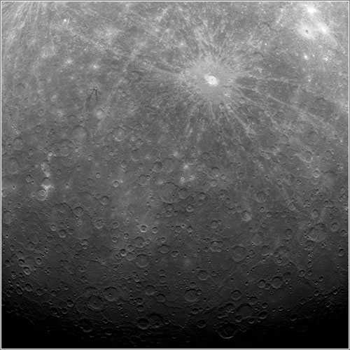 First Image Ever Obtained from Mercury Orbit - NASA/Johns Hopkins University Applied Physics Laboratory/Carnegie Institution of Washington
