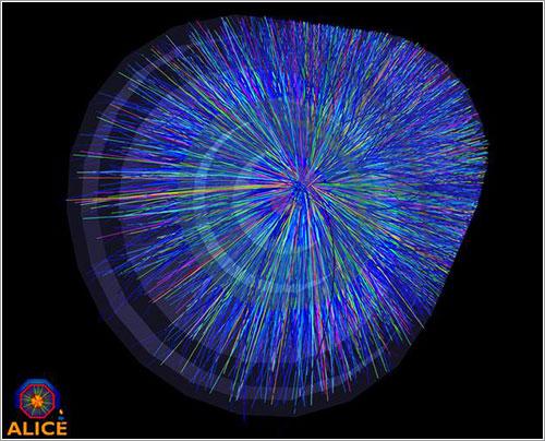 Colisión de iones de plomo vista por ALICE - CERN