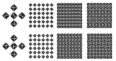 Patrones en Priori Acute, una tipografía inspirada por M.C. Escher