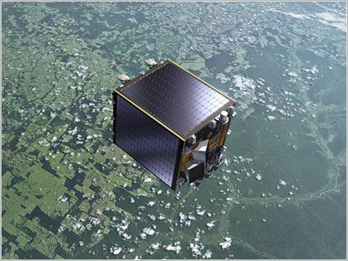 Impresión artística del Proba-V en órbita