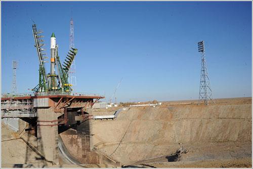 La M-17M en la plataforma de lanzamiento - Energia