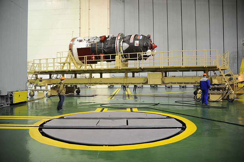 La Progress MS-01 durante su procesado