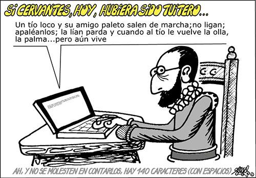Quijote tuitero por Forges