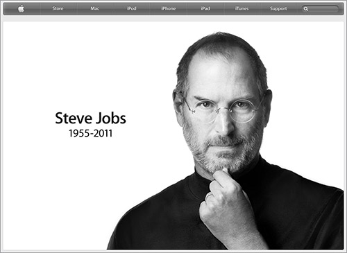RIP Steve Jobs en la web de Apple