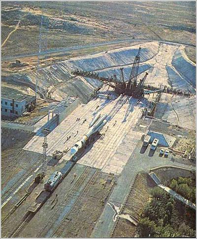 La rampa de Gagarin en los años 70