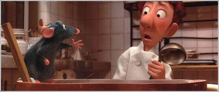 Rémy y Alfredo Linguini © Pixar