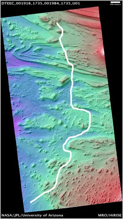 Recorrido de la animación - NASA/JPL/Universidad de Arizona