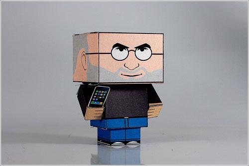 «Cabecicubo» Steve Jobs por Jay Hauf