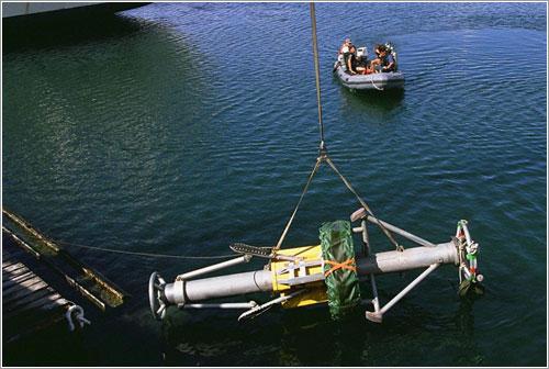 Un DOP durante unas pruebas para el desarrollo de un sistema automático de instalación - NASA