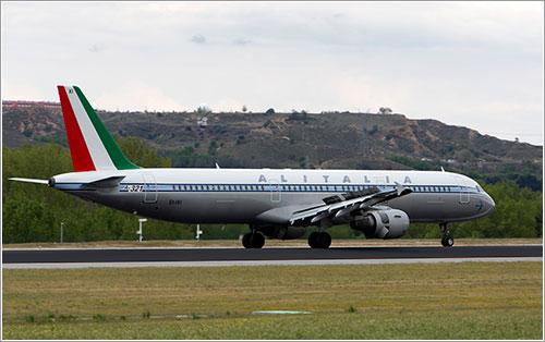 El retro de Alitalia