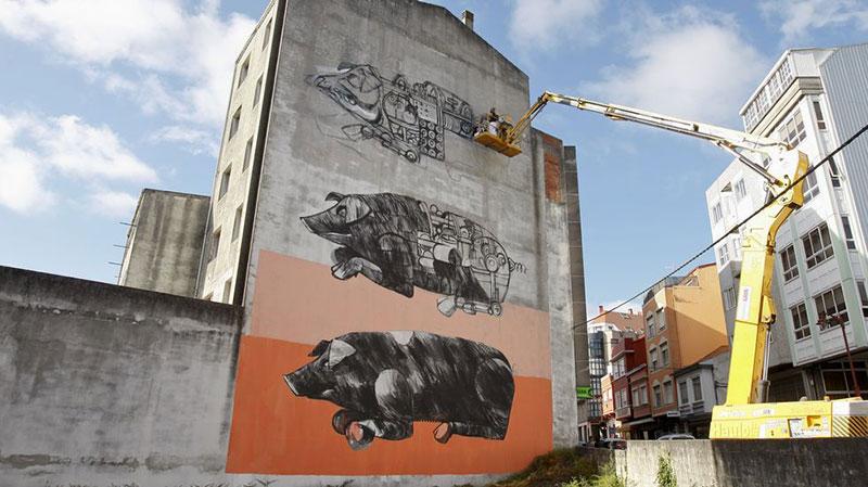 Rexenera Fest, cerdos mecánicos