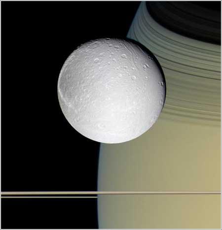 Saturno y Dione