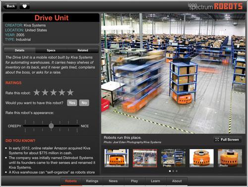 Robots en el almacén de Amazon