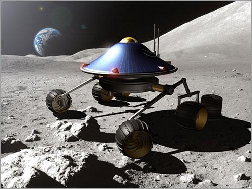 Render del rover del Barcelona Moon Team