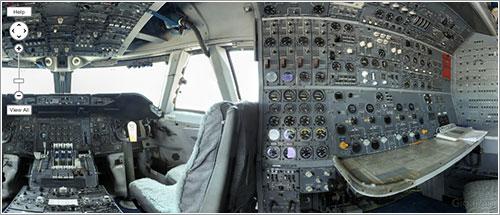 Gigapan del cockpit del NASA 905 - Jon Brack/National Geographic