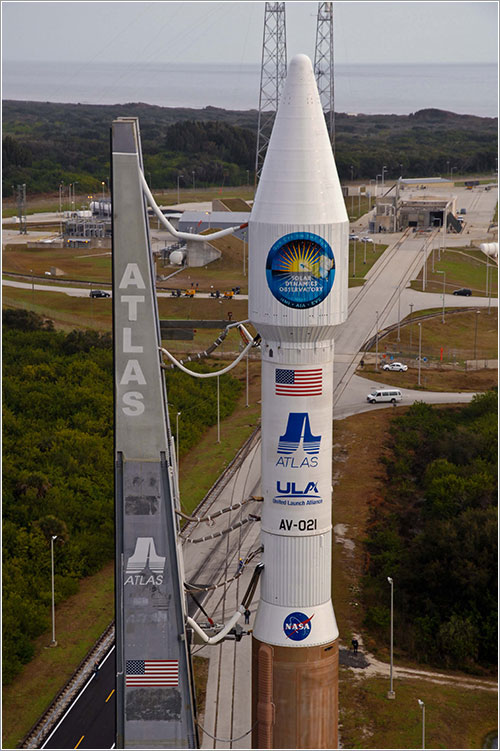 Traslado a la plataforma - United Launch Alliance/Pat Corkery