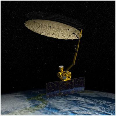 Impresión artística de SMAP en órbita