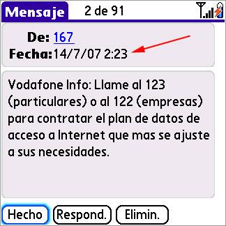 SMS de Vodafone a las 2:23 de la madrugada