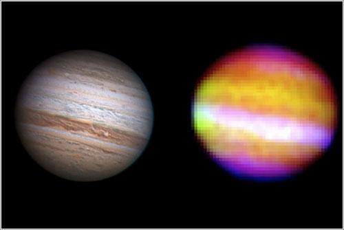 Infrarrojo - NASA, USRA, DSI, Cornell Univ. / Visible - Anthony Wesley