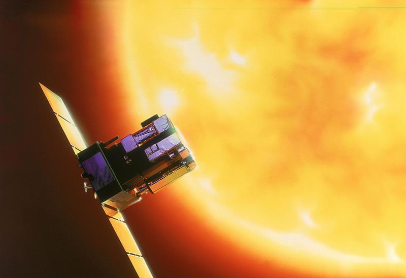 Impresión artística de SOHO en el espacio