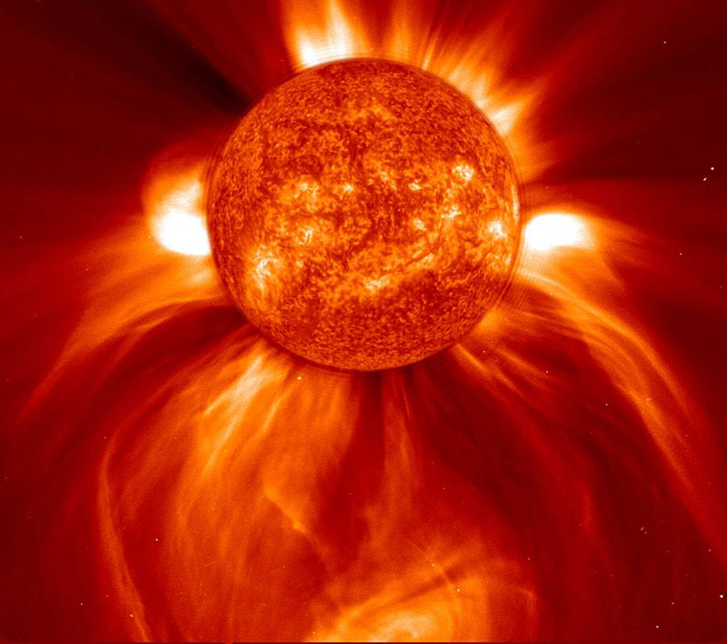 El Sol durante una eyección de masa coronal