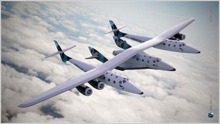 SpaceShipTwo y White Kinght 2 © Virgin Galactic