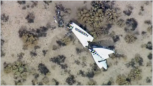 Restos del SpaceShipTwo