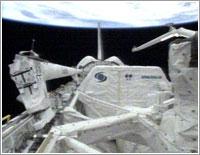 Bodega de carga del Discovery © NASA TV