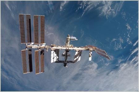 La ISS tras la misión STS-122