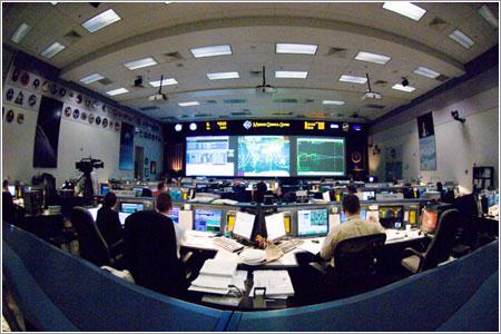 Control de la misión en el Centro Espacial Johnson