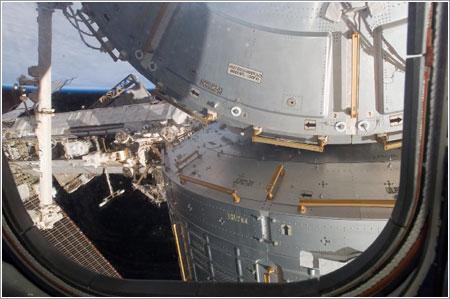 El nuevo módulo de la ISS visto desde el Endeavour