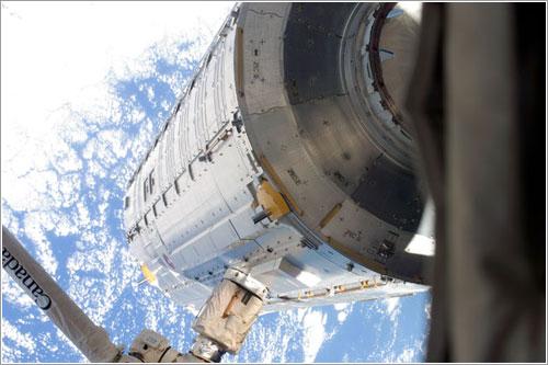 Kibo durante su traslado - NASA