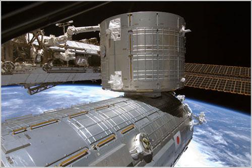 Módulo logístico instalado - NASA