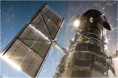 El Hubble tras su suelta - NASA TV