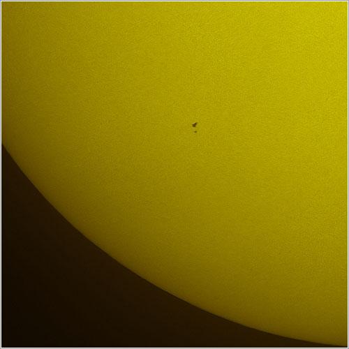 Tránsito del Hubble y del Atlantis frente al Sol - Thierry Legault